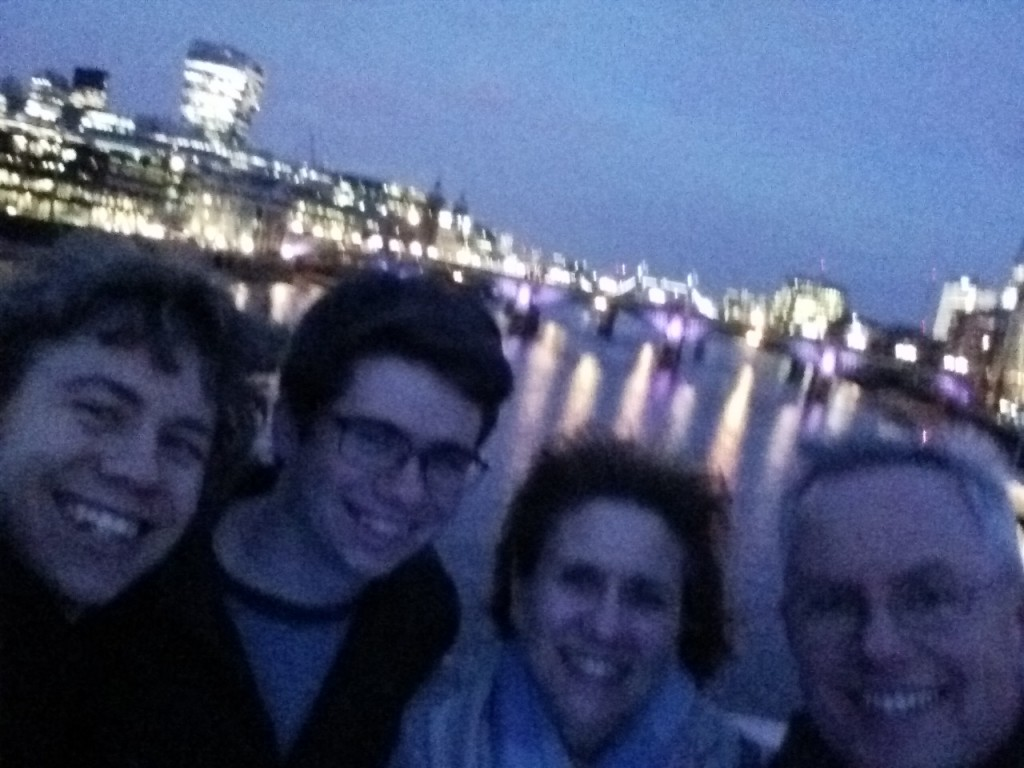 On the Millennium Bridge - London - April 1, 2015