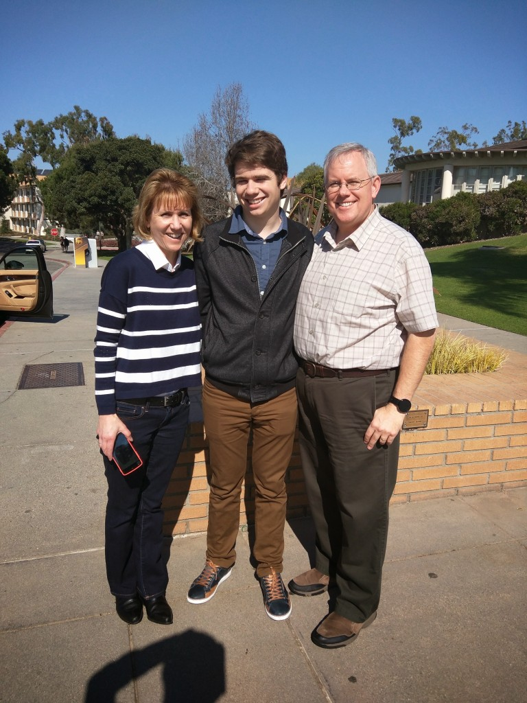 Family Weekend at LMU with Jordy - January 9, 2015